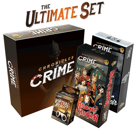 Chronicles of Crime with VR Glasses and Both Expansions!