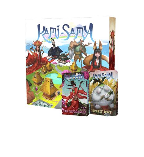 Kami-Sama board game with Awakening and Spirit Way Expansions!
